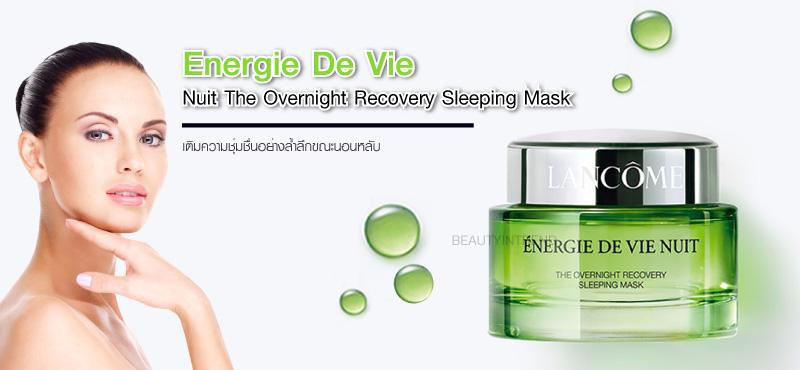 ผลการค้นหารูปภาพสำหรับ LANCOME Energie de Vie Nuit Sleeping Mask